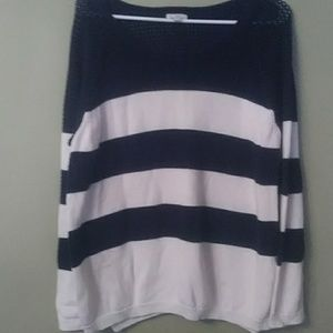 Preowned blue and white striped sweater